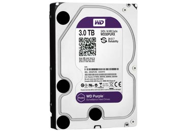 DISCO RIGIDO 3TB 3.5 SATA3 WESTERN DIGITAL PURPLE PARA DVR VIGILANCIA