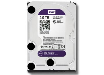DISCO RIGIDO 2TB 3.5 SATA3 WESTERN DIGITAL PURPLE DESKTOP ESCRITORIO PARA DVR VIGILANCIA