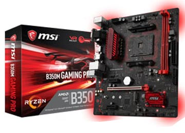 MOTHER MSI B350M GAMING PRO DDR4 VGA DVI HDMI SATA X4 USB 3.1 X2 AM4