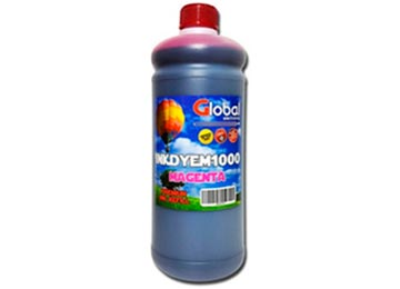TINTA GLOBAL 1000ML 1LT MAGENTA DYE UNIVERSAL EPSON HP BROTHER LEXMARK CANON COMPATIBLE