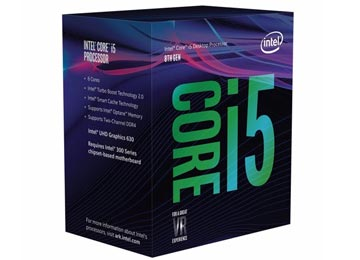 PROCESADOR INTEL COFFE LAKE I5-8400 2.8GHZ 9M 6 NUCLEOS 6 HILOS OCTAVA GENERACION 1151 SOLO WINDOWS 10 64 BITS