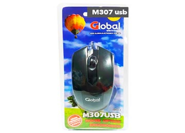 MOUSE GLOBAL M307 USB NEGRO