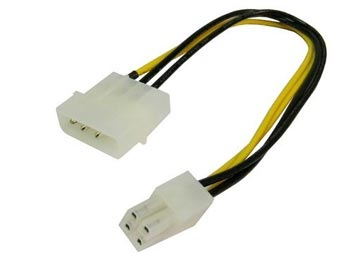 CABLE DE FUENTE ADAPTADOR MOLEX A 4 PINES FUENTE - ES PARA CPU DE MOTHER NO SIRVE PARA PLACAS DE VIDEO, HASTA CPU CON TDP DE 65W
