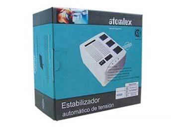ESTABILIZADOR DE TENSION ATOMLUX H500 3 BOCAS