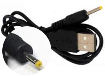 CABLE CARGADOR TABLET USB A PLUG 2.5X0.7MM