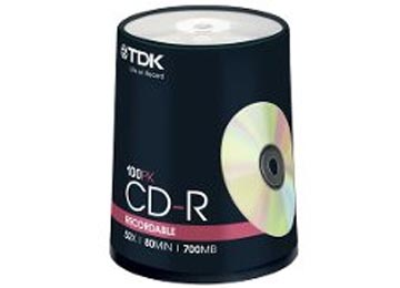 CD-R TDK 52X ESTAMPADO X100U VIRGEN