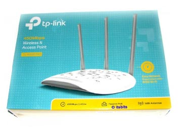 ACCESS POINT TP-LINK TL-WA901ND 450MBPS 5DBI 3 ANTENAS INTERCAMBIABLES