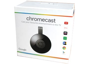 ADAPTADOR CHROMECAST 2 TV HDMI USB WIFI CARGADOR ORIGINAL