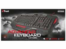 TECLADO TRUST GXT 285 ADVANCED GAMING ILUMINACION LED TECLAS PROGRAMABLES