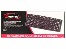 TECLADO EVERTEC USB MULTIMEDIA NEGRO