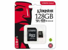 MICROSD 128GB CLASE 10 KINGSTON CON ADAPTADOR A SD