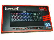 TECLADO REDRAGON K550RGB YAMA 12 TECLAS PROGRAMABLES MULTIMEDIA APOYA MANOS BACKLIGHT NEGRO GAMER GAMING