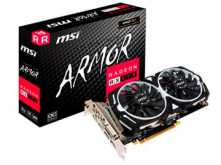 PLACA DE VIDEO MSI RX570 4GB DDR5 OC ARMOR DUAL FAN 3XDISPLAYPORT 1XHDMI 1XDVI-D - REQUIERE CONECTOR 8 PINES