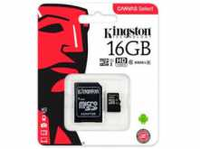 MICROSD 16GB CLASE 10 KINGSTON 80MB CON ADAPTADOR A SD