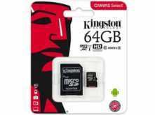 MICROSD 64GB CLASE 10 KINGSTON 80MB CON ADAPTADOR A SD