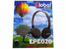 AURICULAR VINCHA GLOBAL EPE020 NEGRO PLUG 3.5MM