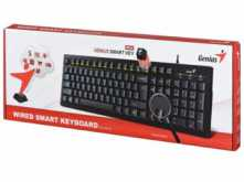 TECLADO GENIUS KB-101 WIRED SMART USB NEGRO