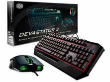 KIT TECLADO + MOUSE COOLER MASTER DEVASTATOR 3 PLUS LED 7 COLORES
