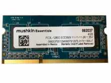 MEMORIA SODIMM DDR3-L 4GB 1600MHZ 1.35V LOW POWER NOTEBOOK MUSHKIN ESSENTIALS PC3L-12800 LATENCIA 11-11-11-28