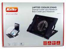 BASE PARA NOTEBOOK KOLKE KAV-119 3 POSICIONES VENTILADOR 160X160MM DIMENSIONES 370X265X55MM NEGRO