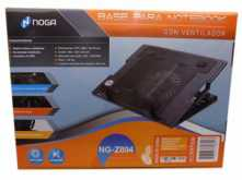 BASE PARA NOTEBOOK NOGANET NG-Z894 13 A 17 16MM  2 USB 5 POSICIONES 370X285X78MM COOLEER 160X160MM