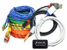 CABLE MICROUSB 2.0 1M TELA VARIOS COLORES
