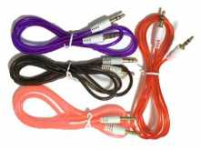 CABLE DE AUDIO - PLUG 3.5 ST M A PLUG 3.5 ST M 1 MTS VARIOS COLORES
