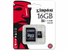 MICROSD 16GB CLASE 10 KINGSTON SDC10G2 45MB CON ADAPTADOR A SD